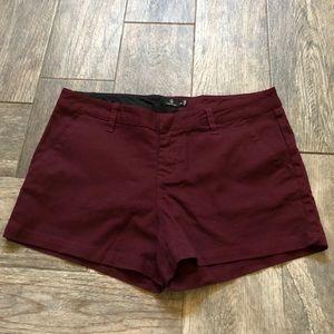 Volcom burgundy shorts